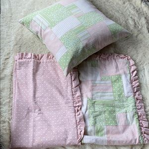 Other - Green pink blanket pillow